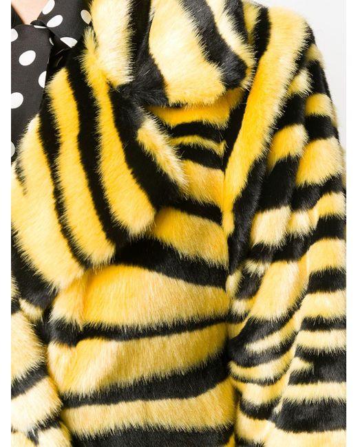 Двубортное Пальто С Тигровым Узором Stand Studio, цвет: Black