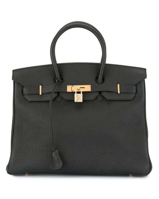 Hermès プレオウンド バーキン 35 ハンドバッグ Black