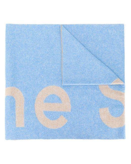 Acne Toronty ロゴ スカーフ Blue