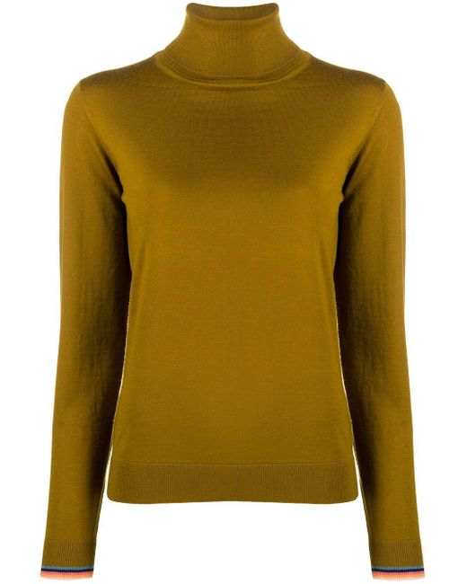 Paul Smith Yellow Roll Neck Jumper