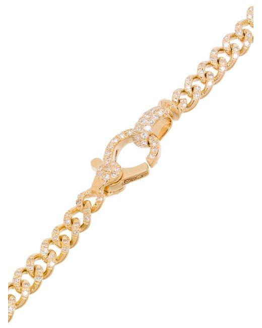 SHAY パヴェダイヤモンド リンクブレスレット 18kゴールド Metallic