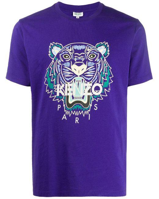 メンズ KENZO タイガー Tシャツ Purple