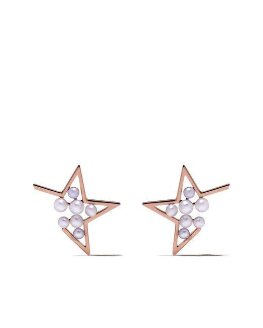 Tasaki Absract Star パール ピアス 18kローズゴールド Metallic