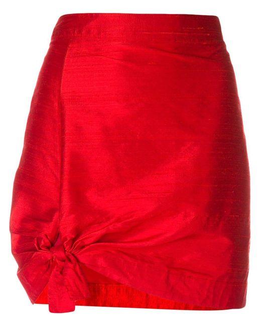 Giorgio Armani Pre-Owned ミニスカート Red