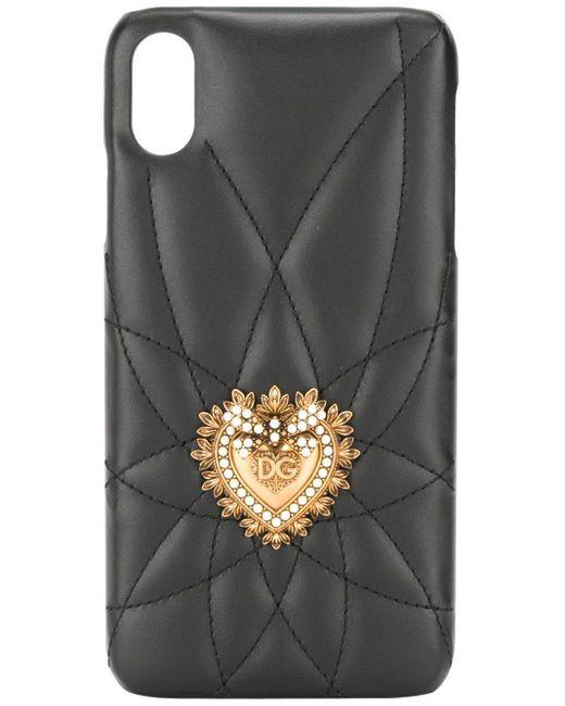 Dolce & Gabbana Sacred Heart Iphone Xs Max ケース Black