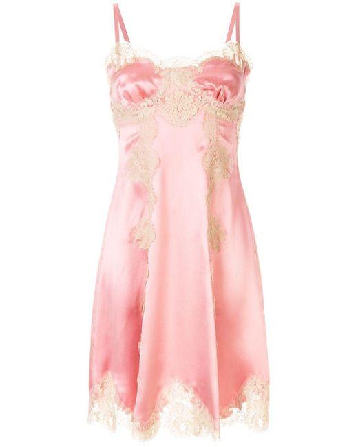 Dolce & Gabbana レースパネル ドレス Pink