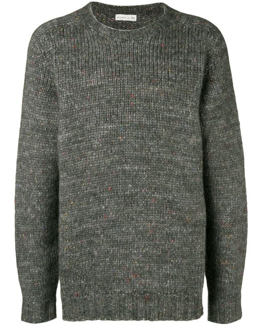 Etro Gray Oversized Knit Jumper for men