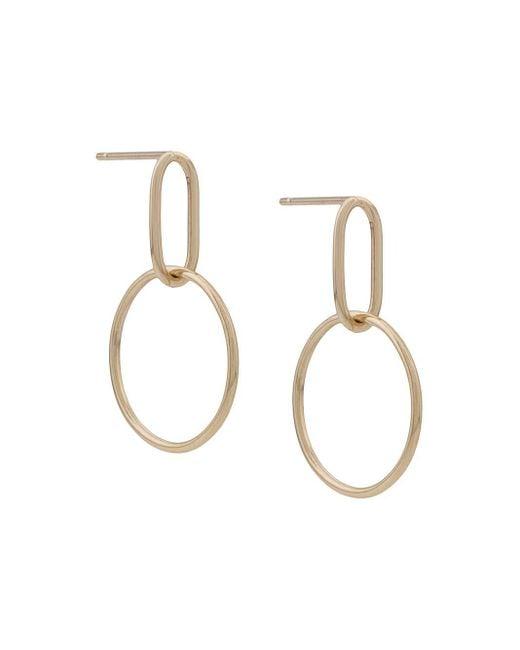 Origin 31 Metallic 9kt Yellow Gold Small Hoola Hoop Earrings