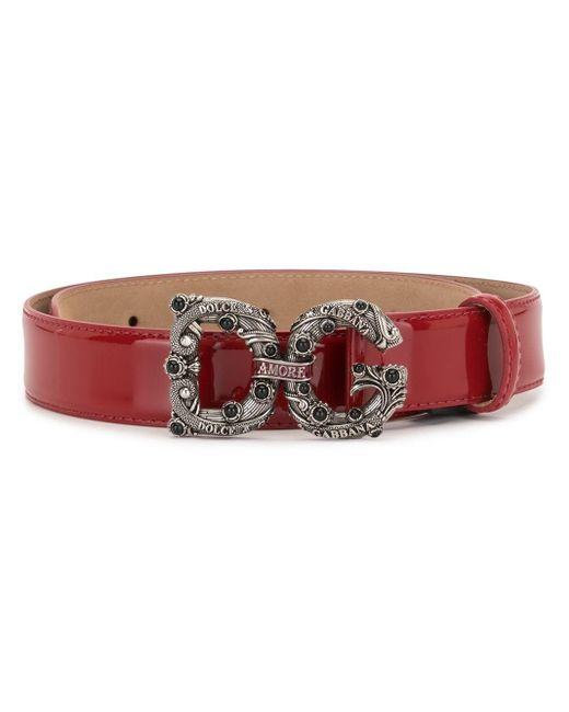 Ремень С Пряжкой Dg Dolce & Gabbana, цвет: Red