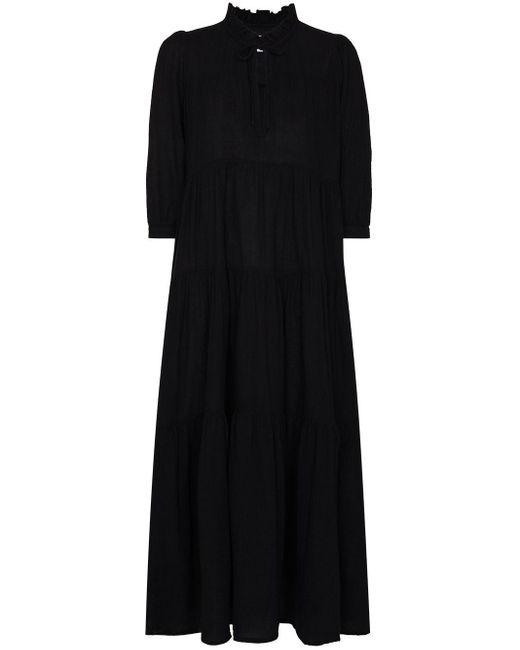 Honorine Black Giselle Long-sleeve Dress
