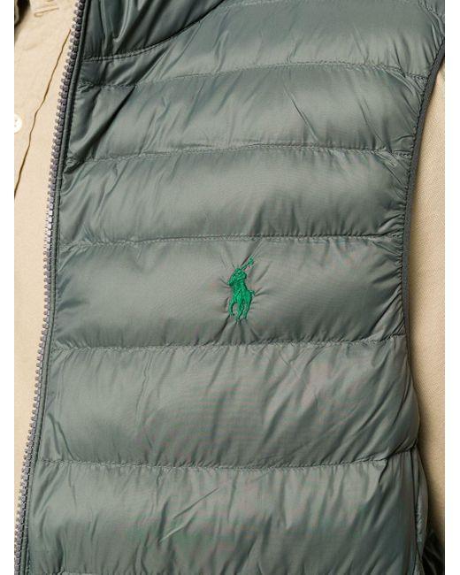メンズ Polo Ralph Lauren ロゴ ジレ Gray