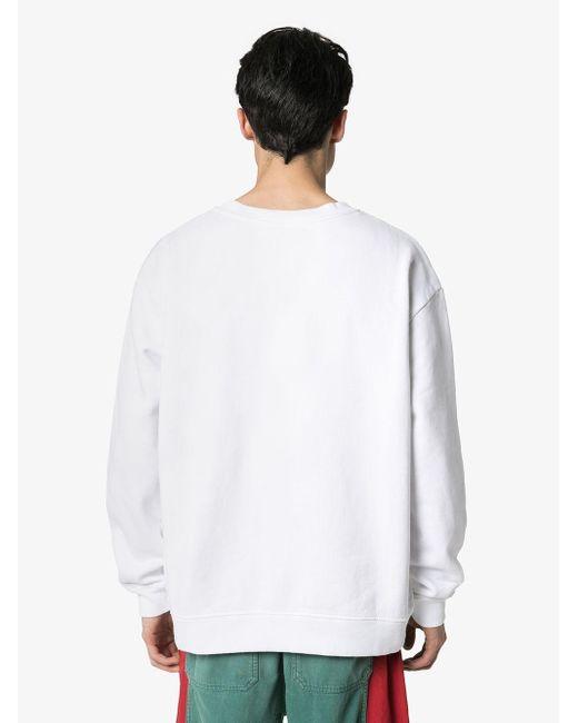 メンズ 424 ロゴ スウェットシャツ White