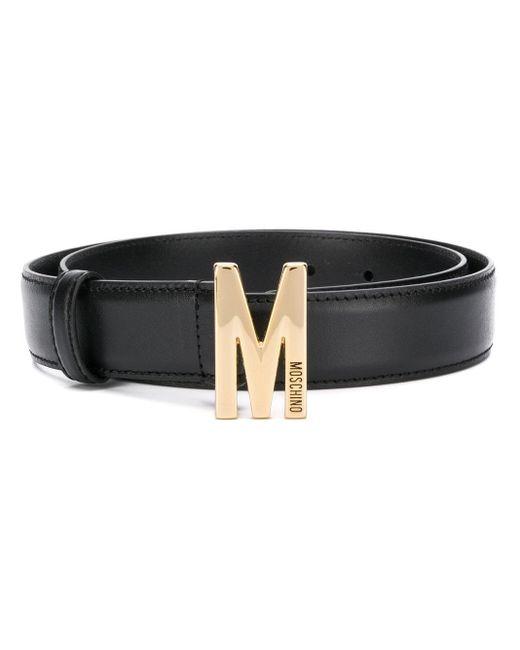 Moschino ロゴ ベルト Black