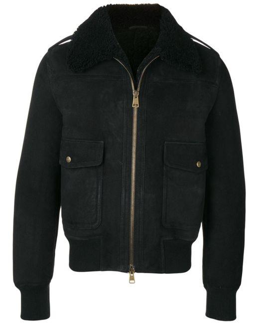 メンズ AMI ボンバージャケット Black