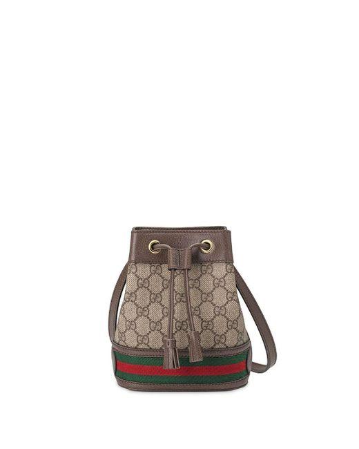 Gucci ブラウン GG スプリーム オフィディア バケット バッグ Brown
