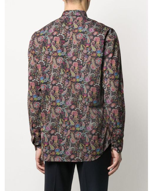 Рубашка С Принтом Пейсли Etro для него, цвет: Multicolor