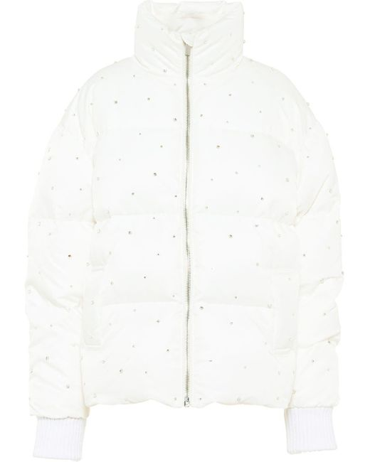 Miu Miu Re-nylon ビジュートリム パデッドジャケット White
