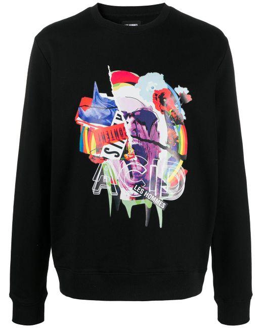 メンズ Les Hommes ロゴ スウェットシャツ Black
