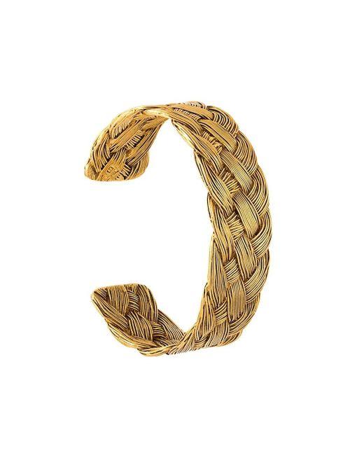 Aurelie Bidermann Metallic 'braided' Open Bracelet