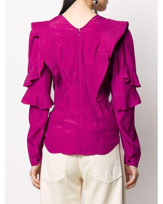 Étoile Isabel Marant ラッフル プリーツブラウス Pink