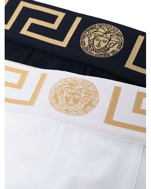メンズ Versace グレカ ブリーフ White