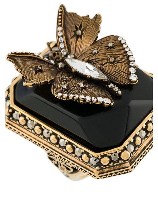 Кольцо С Кристаллами Alexander McQueen, цвет: Metallic