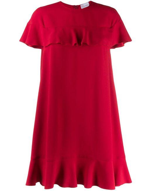 RED Valentino ラッフルトリム ドレス Red