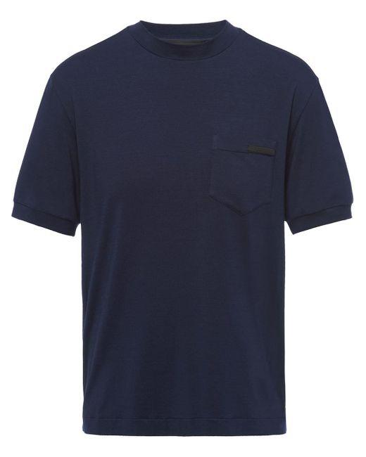 メンズ Prada クルーネック Tシャツ Blue