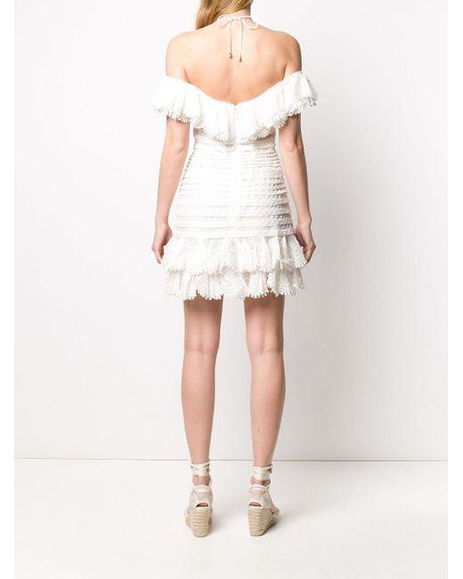 Zimmermann ワンショルダー プリーツドレス White