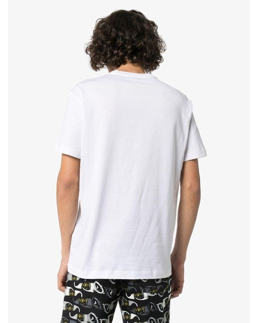 Футболка С Логотипом Versace для него, цвет: White