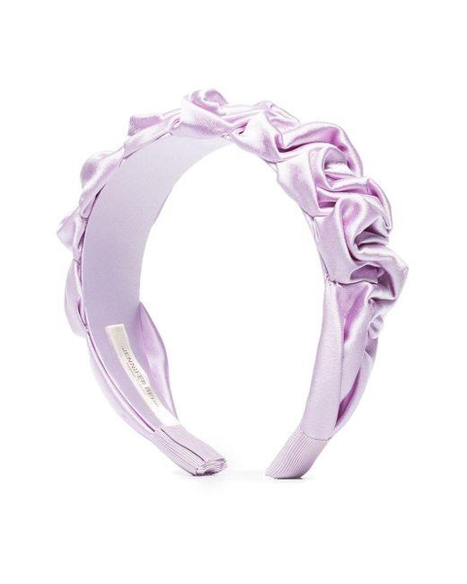 Jennifer Behr Pink Amelia Ruched Headband