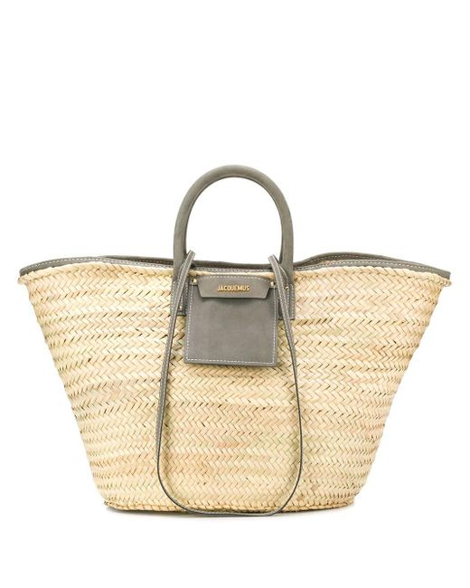 Jacquemus Le Grand Panier Soleil ハンドバッグ Gray