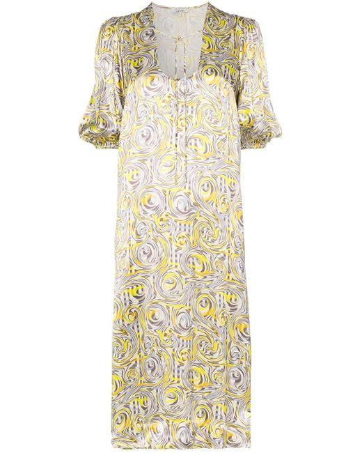 Ganni シルク プリント ドレス Multicolor