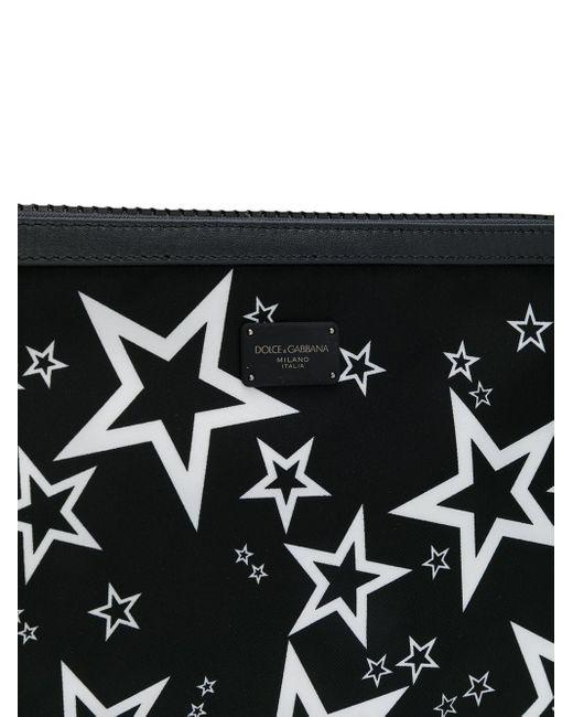 Клатч С Принтом Dolce & Gabbana для него, цвет: Black