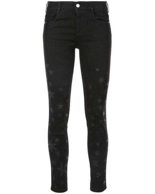 Jean skinny à motif étoile Stella McCartney en coloris Black