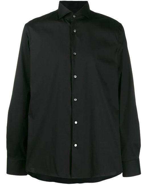メンズ BOSS ボタン シャツ Black