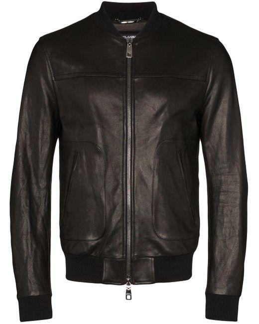 Бомбер С Логотипом Dolce & Gabbana для него, цвет: Black