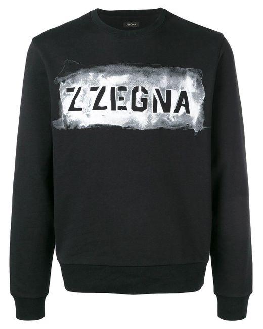 メンズ Z Zegna ロゴ スウェットシャツ Black