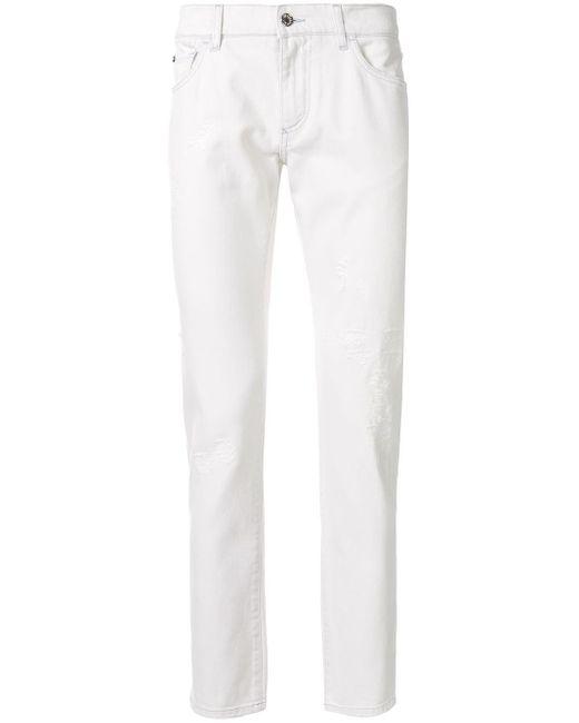 メンズ Dolce & Gabbana スリムジーンズ White