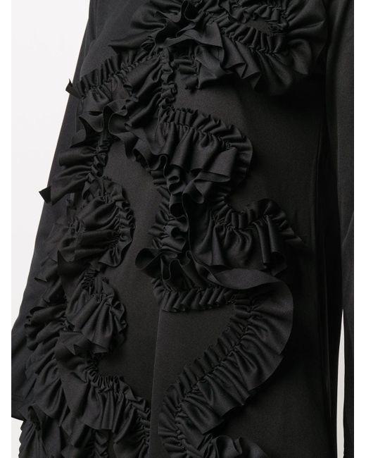Comme des Garçons ラッフル シフトドレス Black