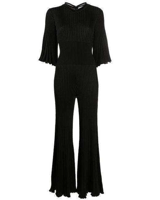Плиссированный Комбинезон С Оборками Bottega Veneta, цвет: Black