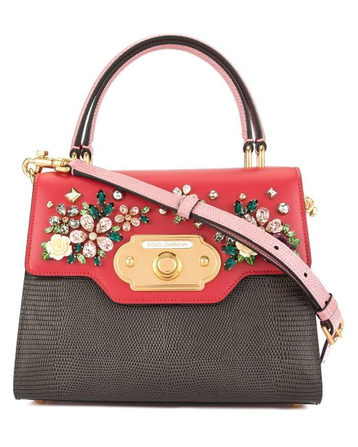 Dolce & Gabbana Red Small Welcome Shoulder Bag