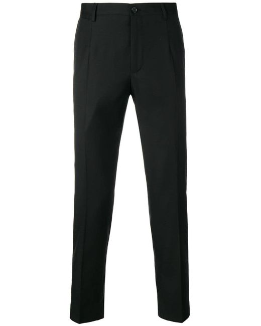 メンズ Dolce & Gabbana クロップド テーラードパンツ Black