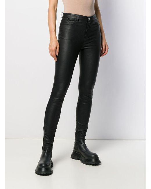Karl Lagerfeld Black Bikerhose aus Leder