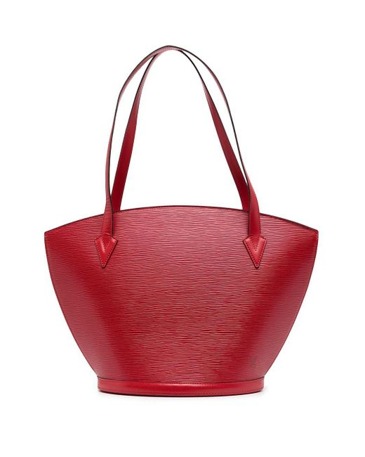 Louis Vuitton プレオウンド サンジャック ハンドバッグ Red