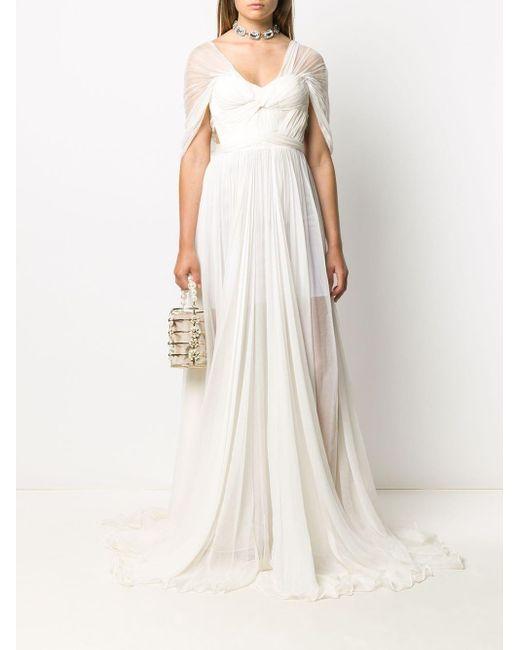 Maria Lucia Hohan Rhonda オープンバック ドレス White