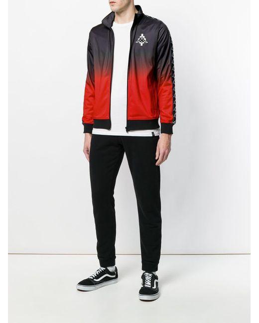 Kappa Logo Jacket Marcelo Burlon для него, цвет: Black