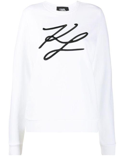 Karl Lagerfeld スウェットシャツ White
