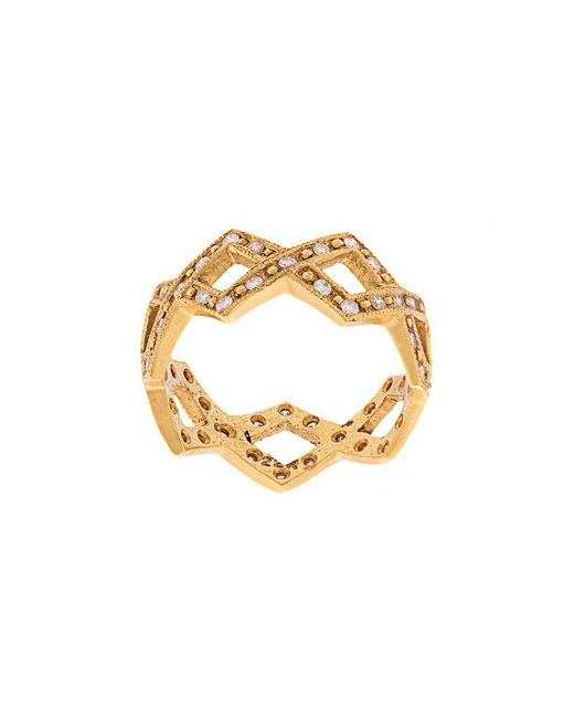 Cathy Waterman - Metallic 22kt Gold And Diamond Braided Ring - Lyst