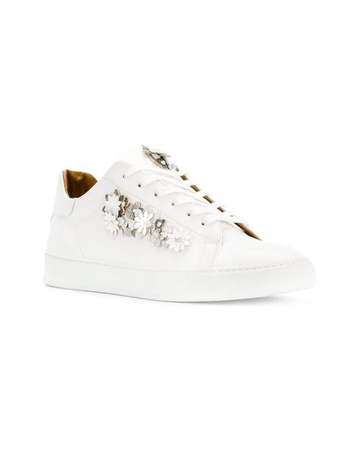 discount fashionable Black Dioniso floral appliqué sneakers free shipping footaction sneakernews cheap price QHV1V